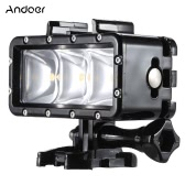 Portable Multi-functional Diving Waterproof Dimmable Video Light Mini LED Fill Light Selfie Light Spotlight with Quick Release Buckle Mount Screw Wrench for GoPro Hero 4 3+ 3 2 1 SJCAM SJ4000 SJ5000 Dazzne P2 Xiaomi Yi Sports Action Camera 30m Underwater