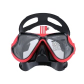 Snorkelling Scuba Diving Mask Goggles Swimming Face Mask with Bracket Mount for GoPro Hero 4 3+ 3 2 1 SJCAM SJ4000 SJ5000 Dazzne P2 Xiaomi Yi Sports Action Camera
