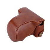 Classic PU Leather Camera Case Bag Protective Pouch with Shoulder Strap for Fuji Fujifilm X-A1 X-A2 X-M1