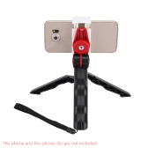 Andoer 2in1 Mini Portable Folding Table-top Tripod Stand + Handheld Grip for GoPro Hero 4/3+/3/2/1 DC DSLR SLR Camera and Smartphone
