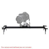 "Andoer 80cm / 31"" Camera Video Ball-Bearing Dolly Track Slider Stabilizer System with Carrying Bag for DSLR Camcorders"
