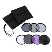 Andoer 67mm UV+CPL+FLD+ND(ND2 ND4 ND8) Photography Filter Kit Set Ultraviolet Circular-Polarizing Fluorescent Neutral Density Filter for Nikon Canon Sony Pentax DSLRs