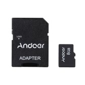 Andoer 8GB Class 10 Memory Card TF Card + Adapter + Card Reader USB Flash Drive for Camera Car Camera Cell Phone Table PC GPS
