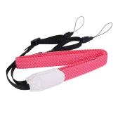 Polka Dots Adjustable DSLR Camera Camcorder Soft Cotton Shoulder Neck Strap Belt with Adapter for Nikon Canon Panasonic Sony Samsung Olympus Fujifilm