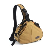 Caden K1 Waterproof Fashion Casual DSLR Camera Bag Case Messenger Shoulder Bag for Canon Nikon Sony Khaki