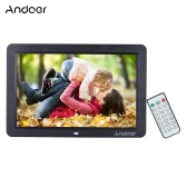 "Andoer 12"" Wide Screen HD LED Digital Picture Frame Digital Album High Resolution 1280*800 Electronic Photo Frame with Remote Control Multiple Functions Including LED Clock Calendar MP3 MP4 Movie Player Support Multiple Languages"