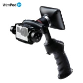 "WenPod GP1+ Adventure Camera Stabilizer Digital Stabilizer Handheld Gimbal with 270° Rotatable 3.5"" LCD Built-in Monitor for GoPro Hero 3/3+/4 Action Cameras"