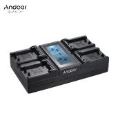 Andoer LP-E6 LP-E6N 4-Channel Digital Camera Battery Charger w/ LCD Display for Canon EOS 5DII 5DIII 5DS 5DSR 6D 7DII 60D 80D 70D