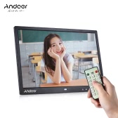 """Andoer 15"""" TFT LED Digital Photo Frame Screen Desktop Album Display Image 1080P MP4 Video MP3 Audio TXT eBook Clock Calendar 1280 * 800 HD with Infrared Remote Control 7 Touch Key Support Auto Mixed Play 14 Languages with Detchable Stent"""
