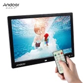 """Andoer 13"""" LED Digital Photo Frame Screen Desktop Album Display Image 1080P MP4 Video MP3 Audio TXT eBook Clock  Calendar 1280 * 800 HD Resolution with Infrared Remote Control/ 7 Touch Key Support Auto Play/ 14 Language/  Stand"""