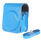 Classic Vintage Compact PU Leather Case Bag for Fujifilm Instax Mini 70 with Shoulder Strap