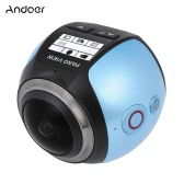 Andoer V1 360 Degree Panorama Camera Wifi 2448P 30FPS 16M Fisheye Film Source for Virtual Glasses VR Action Sports Outdoor Activities Camera Camcorder Car DVR