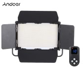 Andoer Adjustable Brightness 1040pcs LED Beads CRI 95+ 7680LM 5600K DMX512 Video Studio Photography Light Lamp for Canon Nikon Sony Camera Camcorder