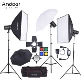 Andoer MD-300 900W (300W * 3) Studio Strobe Flash Light Kit