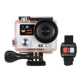 4K 25fps 1080P 60fps Full HD 12MP WiFi Sports Action Camera w/ Remote Control + Multiple Mount Base + Carrying Bag Dual LCD Screen 170°Wide-angle Waterproof Underwater Diving 30m Car DVR