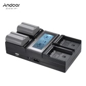 Andoer EN-EL15 4-Channel Digital Camera Battery Charger w/ LCD Display for  Nikon D500 D610 D7000 D7100 D750 D800 D810 D7200