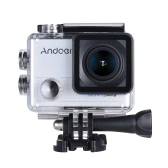 """Andoer AN5000 4K 24fps WiFi Sports Action Camera 20MP 1080P 60fps Gyroscope Anti-shake Support 5X Zoom 2"""" LCD Screen Waterproof 30m 170° Selectable Wide Angle Lens Car DVR Camcorder w/ Portable Carrying Case"""