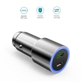 dodocool 33W Dual Type-C Ports Car Charger with 18W QC 3.0 Type-C Output and 15W Standard Type-C Output Silver