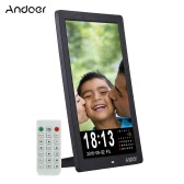 "Andoer 12"" LED HD Digital Photo Picture Frame 1280 * 800 Desktop Frame Support MP3/MP4/E-book/Calender/Alarm Clock Function with Remote Control Christmas Gift"