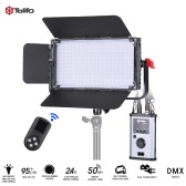 Tolifo GK-60B PRO 60W Ultra-thin 240pcs CRI95+ LED Video Light Lamp 2.4G Remote Control 3200K ~ 5600K  Bi-color w/ Barn Door White Filter V-mount Plate and DMX512 Connector for Studio Photography