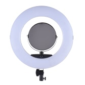 "FD-480II 17.7"" /45cm 96W Dimmable Bi-color 3200-5500K Macro LED Video Ring Light Lamp w/ LCD Display Make-up Mirror Smartphone Holder for Canon Nikon Sony Camera Camcorder Photography Studio Live Broadcast Telecast Beauty Salon"