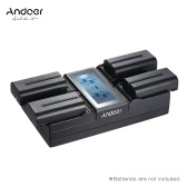 Andoer NP-F970 4-Channel Digital Camera Battery Charger w/ LCD Display  for Sony NP-F550 F750 F950 NP-FM50 FM500H QM71