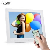 "Andoer 10"" HD Digital Photo Frame Desktop Album Display Image 1080P MP4 Video MP3 Audio TXT eBook Clock Calendar Support Auto Play with Infrared Remote Control/ 7 Touch Key / 14 Language/ Stand"
