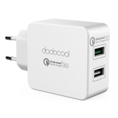 dodocool 30W Dual USB Wall Charger with Quick Charge 3.0 Power Adapter with Foldable US Plug for LG G5 / HTC One A9 / Xiaomi Mi 5 / LeTV Le MAX Pro and More USB-powered Devices