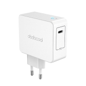dodocool 45W USB Type-C Wall Charger Power Adapter with Power Delivery for Apple MacBook/iPhone X/8 Plus/8/Nintendo Switch/Google Chromebook Pixel/HUAWEI MateBook X/Xiaomi Mi Notebook Air/Samsung Galaxy S8+/Nexus 5X/Nexus 6P and More EU Plug White