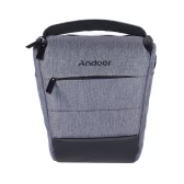 Andoer Portable DSLR Camera Shoulder Bag Sleek Polyester Camera Case for 1 Camera 1 Lens and Small Accessories for Canon Nikon Sony Fujifilm Olympus Panasonic
