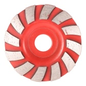 "90mm 3.5"" Diamond Segment Grinding Wheel Fan Shape Grinder Cup 20mm Inner Hole Concrete Granite Masonry Stone Ceramics Terrazzo Marble Grind Disc for Building Industry"