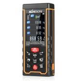 KKmoon 50m Portable Handheld Rechargeable Digital Laser Distance Meter Color Display Range Finder Diastimeter Area Volume Measurement with Angle Indication High-precision Rangefinder