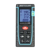 Meterk 40m 60m 80m 100m / 131ft 197ft 262ft 328ft Portable Handheld Digital Laser Distance Meter Area Volume Measurement Tool Range Finder High-precision Rangefinder M/In/Ft Data Storage Memory Function LCD Display Backlight Level Bubble