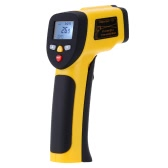Portable Non-contact Digital Dual Laser Infrared Thermometer IR High Temperature Gun Tester Pyrometer with Back light LCD Display -50℃-850℃(-58℉-1562℉) Adjustable Emissivity 12:1