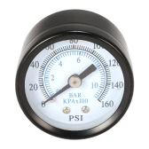"40mm 0~160psi 0~10bar Pool Filter Water Pressure Dial Hydraulic Pressure Gauge Meter Manometer 1/8"" NPT Thread"