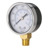 "50mm 0~200psi 0~14bar Pool Filter Water Pressure Dial Hydraulic Pressure Gauge Meter Manometer 1/4"" NPT Thread"