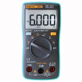 RICHMETERS RM101 True RMS Multifunctional LCD Digital Multimeter DMM DC AC Voltage Current Meter Resistance Diode Capacitance Tester Measurement Automatic Polarity Identification Ammeter Voltmeter Ohm
