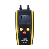 Professional Digital Wood Moisture Meter Ambient Temperature Tester LCD Backlight Display
