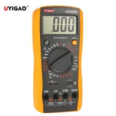 UYIGAO Brand New Portable Mini Digital LCD Multimeter Meter Tester DC/AC Voltage Current Resistance Capacitance Ohmmeter Ammeter Diode Triode Measurement