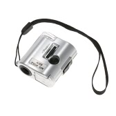 60X Mini Microscope Jeweler Loupe Lens Illuminated Magnifier Glass with LED UV Light