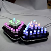 DIY Touch Control Full Color 5MM LED Triangular Pyramid Electronic Kit