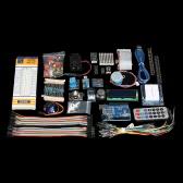Ultimate UNO R3 Starter Kit for Arduino Servo Motor Relay RTC LED with Stepper Motor LCD1602 PIR RTC DHT11 Sensors Servo Breadboard Jumper Wire