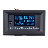 OLED Multi-functional 7-in-1 Electrical Parameter Meter Voltage Current Time Power Energy Capacity Temperature Tester