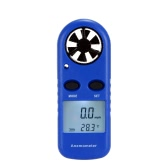 Multifunctional LCD Mini Anemometer Wind Speed Air Velocity Temperature Measurement Beaufort Scale Display