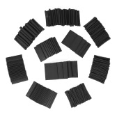 415pcs Black Shrinkable Tube Polyolefin Halogen-Free Heat Shrink Tubing Electrical Equipment Tube Sleeving Wrap Wire Cable Sleeve Kit Shrink Ratio 2:1 10 Sizes φ1.5-φ30mm