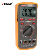 UYIGAO Brand New Digital LCD Multimeter Ohmmeter Ammeter DC/AC Voltage Current Resistance Capacitance Frequency Duty Circle Diode Temperature Triode Continuity Test Manual Range