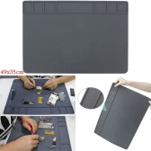 The Silicone Heat Insulation Pad for High Temperature Maintenance Work Platform Soldering Stations Laminating Machine Remover Bubble Machine Grey