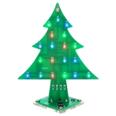DIY Colorful Easy Making LED Light Acrylic Christmas Tree Electronic Learning Kit Module