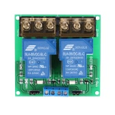 2-Channel DC 5V 30A Relay Board Module Optocoupler Isolation High/Low Trigger