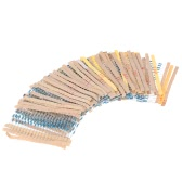 1120pcs 1/4W 56 Values 1 ohm to 10M ohm Metal Film Resistors Assortment Kit Electronic Components